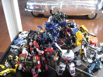 Transformers Toys at Lane Motor Museum